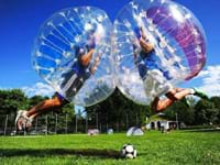 Bubble voetbal Zuid-Holland
